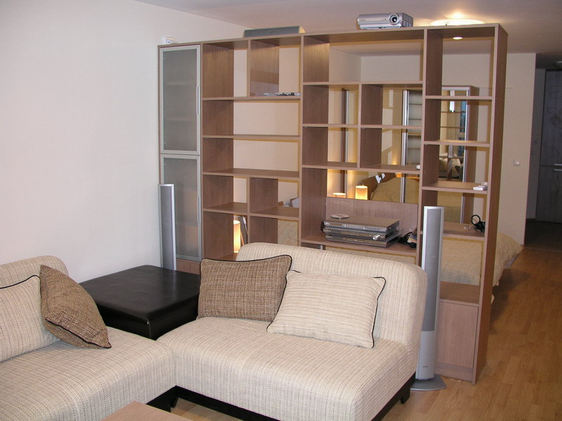 Bookcase-cabinet – room divider - H:200/W:250/D:50cm - - Modular ...