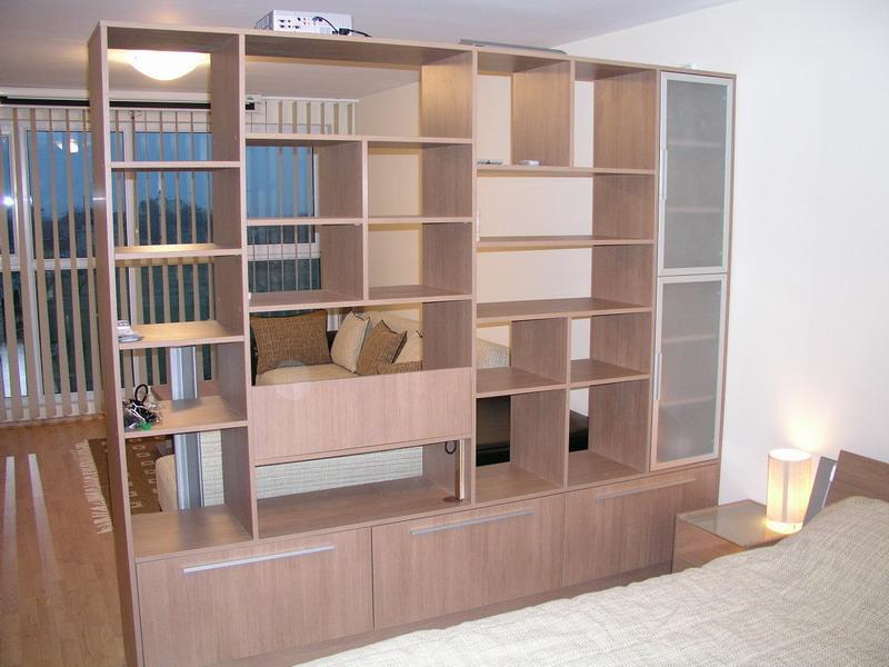 Bookcase cabinet Room Divider H200W250D50cm